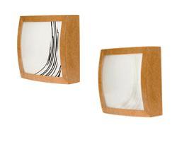 Plafon MDF p/ 2 lâmpadas - sem Verniz e Vidro Serigrafado