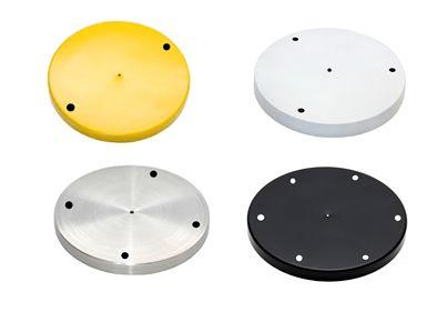 Canopla 19cm c/ Furos e kit instalação - Cores