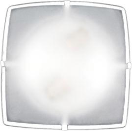Plafon 4 Garras Vidro Fosco c/ Borda p/ 2 lâmpadas