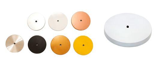 Canopla Redonda B1 c/ Kit Instalação p/ Luminária ou Pendente - cores