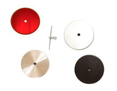 Canopla Tampa Cega Furo 11cm Central B1 c/ Kit Instalação - cores
