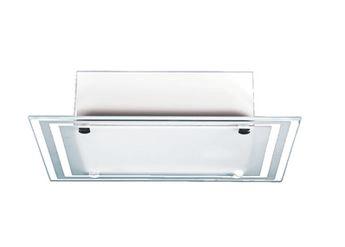 Plafon Quadrado Branco Vidro Externo p/ 1, 2 ou 3 lâmpadas