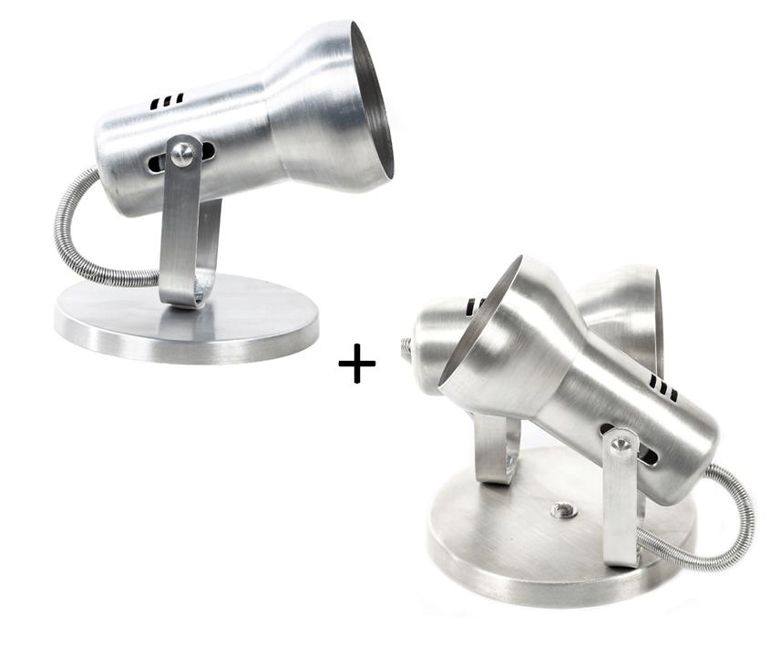 Luminaria Spot Sobrepor Individual e Spot Duplo Aluminio modelo Soft