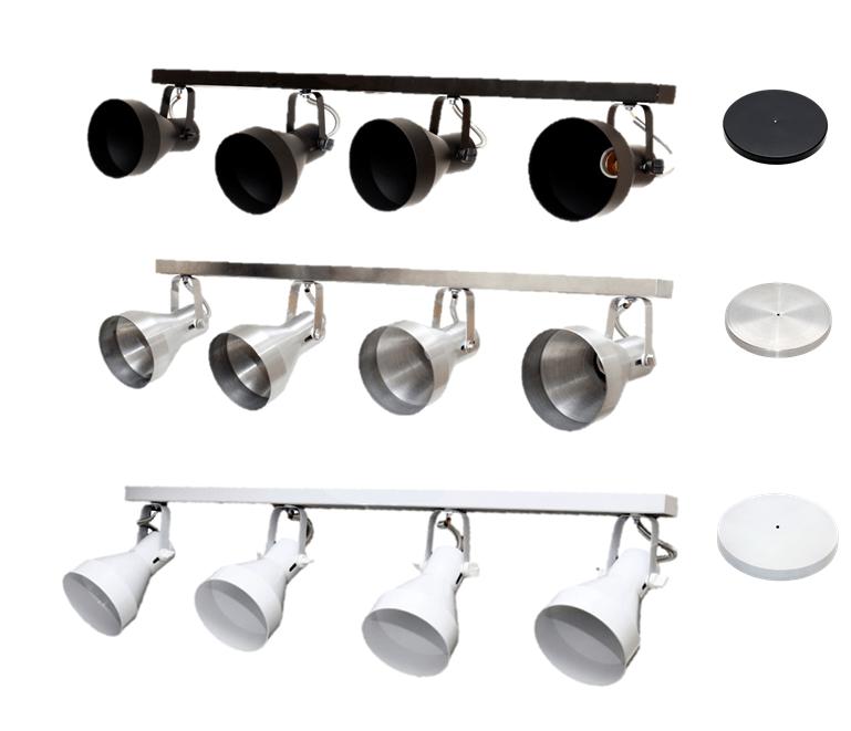 Spot de Trilho para 4 lampada PAR 30 - 80cm
