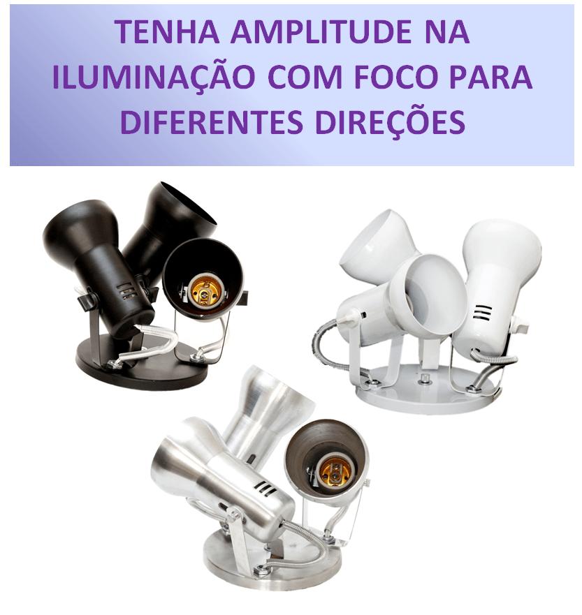 LUMINARIA PARA TETO P/ 3 LAMPADAS MODELO SOFT