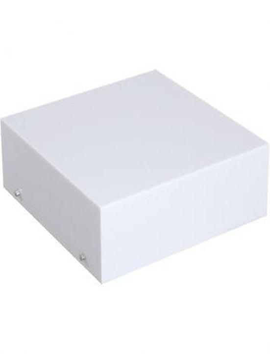 Plafon Acrilico Branco Translucido Quadrado p/ 1, 2,3 ou 4 lâmpadas