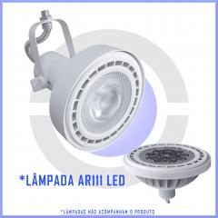10 Spot para perfilado AR111 p/ Trilho p/ 1 lâmpada  - Branco, preto ou escovado