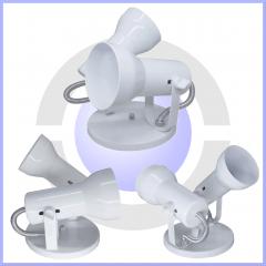 Luminaria Spot Duplo Para Teto para uso lâmpada led redodinha kit 5 unid