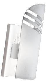 Arandela Unha Listras Transparentes Branca, Preta ou Escovada