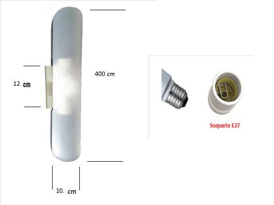 Arandela Fosca Unha Dupla 2 lâmpadas