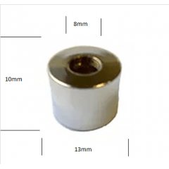 Porca Cromada p/ Parafuso Tipo Niple- Prensa/Trava Cabo