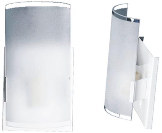 Arandela Fosca Calha Branca, Preta ou Escovada.