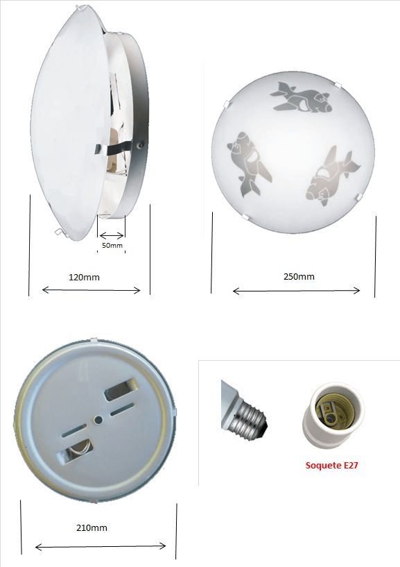 Plafon Infantil Mod. Avião p/ 2 lâmpadas