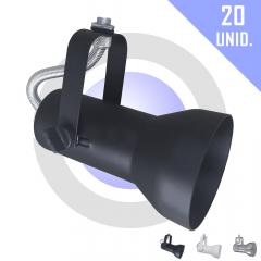 Kit Spot para Trilho PAR 20  c/ 20 unidades