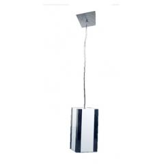 Pendente em Acrilico com Detalhes em Espelho p/ 1 lâmpada
