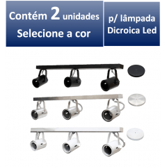 Kit Spot de Trilho para 3 lampada Dicroica - 60cm