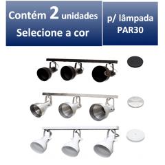 Kit Spot de Trilho para 3 lampada PAR 30 - 60cm