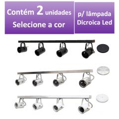 Kit Spot de Trilho para 4 lampada Dicroica - 80cm