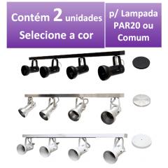 Kit Spot de Trilho para 4 lampada PAR 20 - 80cm