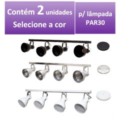 Kit Spot de Trilho para 4 lampada PAR 30 - 80cm