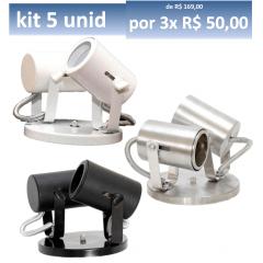 Kit Spot Dicroica de Sobrepor para Iluminação de Loja ou Casa p/ duas lâmpadas em Aluminio