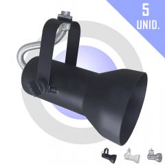 Kit Spot para Trilho PAR 20 c/ 5 unidades