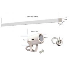 Spot de Trilho para 4 lampada Dicroica - 80cm