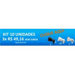 Kit Spot Trilho Eletrocalha Perfilado p/ 1 lâmpada Comum mod. Bocão c/ 10 unidades