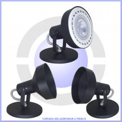 Spot Sobrepor Modelo AR111 p/ 1 lâmpada  - Branco, preto ou escovado