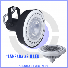 Spot para perfilado AR111 p/ Trilho p/ 1 lâmpada  - Branco, preto ou escovado